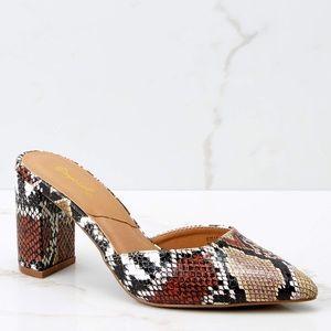 Python print block heel mules